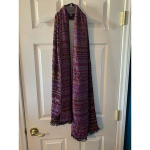 Forever 21 Accessories - Purple Print Scarf